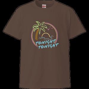 【トゥナイトトゥナイト】サンセットビーチTシャツ(チャコール)