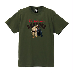 """ANDSUNS(アンドサンズ) """"THE INFAMOUS SUNS TEE"""" [OLIVE]"""