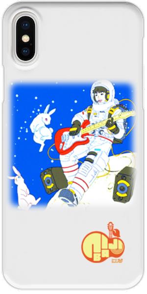 iPhoneX用スマホケース(透明色) にじば ホームページ壁画02var.