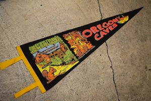 USED Vintage Pennants OREGON CAVES G0389