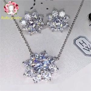 s925 sunflower necklace pierce(set)