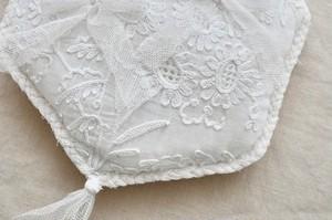 Wedding Ring pillow cornelie lace(Hexagon)