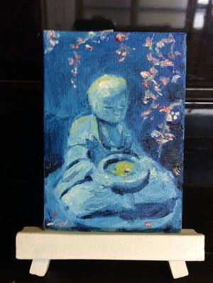 『夜桜』油絵
