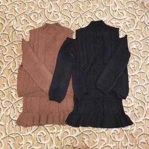【ViVi11月号掲載】open shoulder knit setup