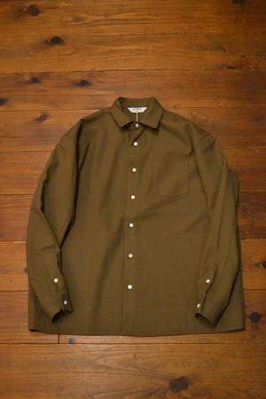 roundabout / L/S Wool Big Shirt