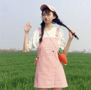 ★05207 レディースファッション ミニワンピース サロペット 2019新作 ゆめかわ  春夏