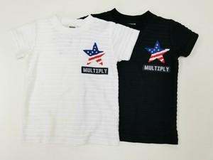 星 さがら刺繍入り Tシャツ 20502