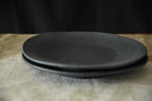 0746 フルカワゲンゴ 墨南蛮 リム皿
