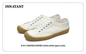 #101 CANVAS SHOES white/white (gum sole) INN-STANT インスタント 【消費税込・送料無料】
