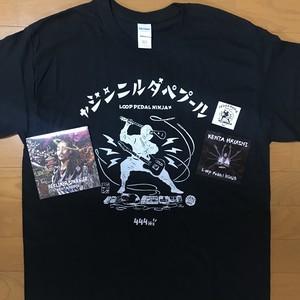 誕生日感謝企画!在庫限り!Silk Screen T-Shirts(Black)&お好きなCD1枚&ステッカーNinjaセット