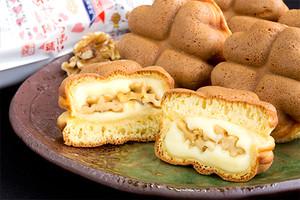 しあわせ饅頭《くるみ・カスタード》&《栗・チョコ》セット(10個入り/冷凍/化粧箱付)