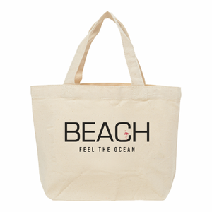 【送料無料】ひょっこりフラミンゴ「BEACH」ロゴランチバッグ