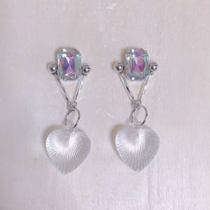 silver triangle heart