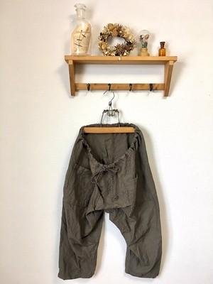 3/4 linen pants:mocha