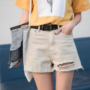 【ボトムス】ダメージ加工ファッション人気ショートパンツ26699115