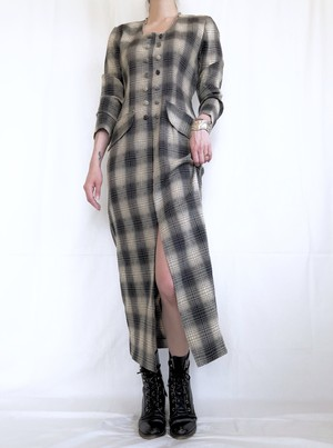 vintage shadow plaid dress