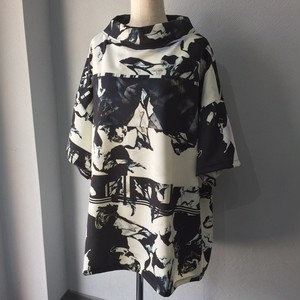 BIG PRINT TOP RECTANGLE COLLAR 【FRANCOISE】