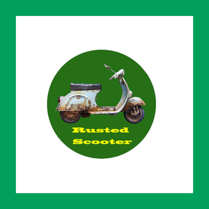 廃車缶バッジ 緑