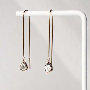 Sliced Diamond Pierced Earring / Hook Type / Pair(E269-YD)