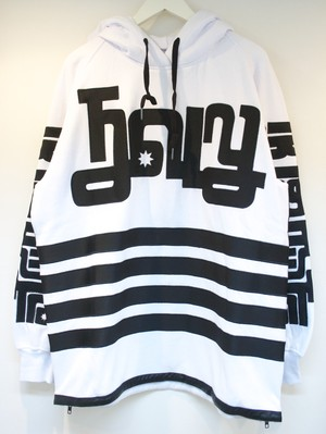 KTZ SIDE ZIPPED HOODY サイド ジップ パーカー / WHITE 50%OFF