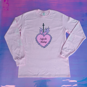 corazon long sleeve Tshirt pink