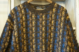 80's TONY LAMBERT linen×cotton Sweater