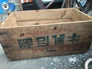 牛乳石鹸 木箱