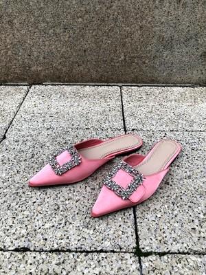 【予約】dreamy flat mule / pink (3月下旬発送予定)