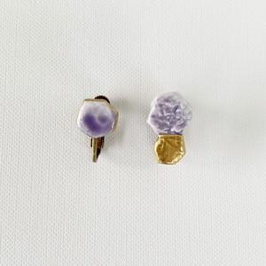 イロアソビ金彩耳飾り 紫