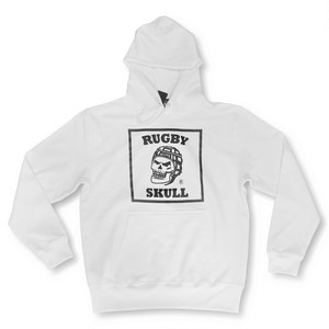 RUGBY SKULL Big Logo Pullover Hoody White