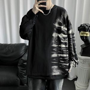 【トップス】長袖ラウンドネックカジュアルストリート配色Tシャツ40402822