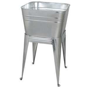 【B650-817GV】Stand tub [color:Galvanized] ウォッシュタブ / アメリカン