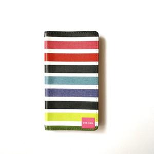 北欧デザイン 手帳型スマートフォンケース [ベルトなし] | iPhone6/7/8/SE(第二世代)兼用 |  multi stripe