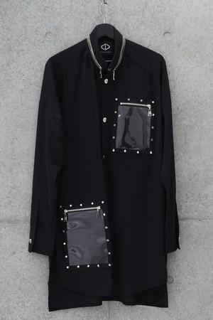 Frame Button Shirts [Black]