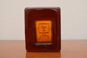 ボダエリック・ホグランアッシュトレイ・ペーパーウエイト(ロボット オレンジスクエア難あり)【BODA/Erik Hoglund】北欧 食器・雑貨 ヴィンテージ | ALKU