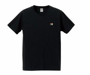 KYUSワンポイトフラッグ Tシャツ(ブラック) 綿100パーセント