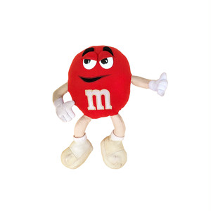 M&M RED Plush Toy