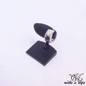 スナップリング フープ ピアス ジルコニア シルバー 銀 ブラック 黒 893