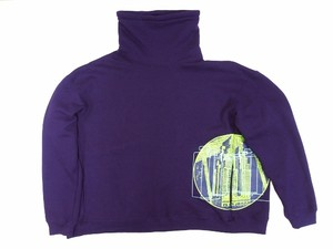 MOCK NECK SWEAT PURPLE 18AW-FS-25