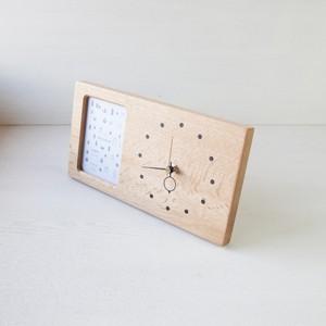 木の時計&フォトフレーム No120 | ナラ