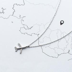 【送料84円】飛行機ネックレス
