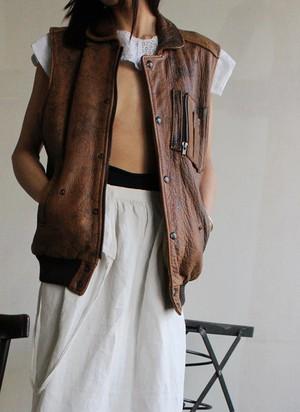 90s leather vest