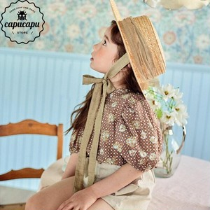 «sold out»«pourenfant» laren balloon blouse 2colors バルーン ブラウス