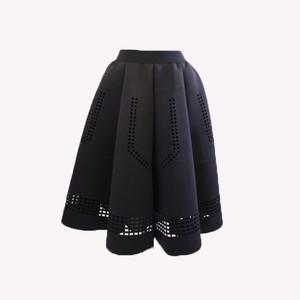 RIMI&Co. SELECT カットレース ネオプレーン立体フレアースカート