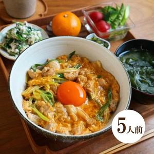 八ケ岳鳥幸地鶏の絶品親子丼ミールキット 親子丼鍋付き(5人前)