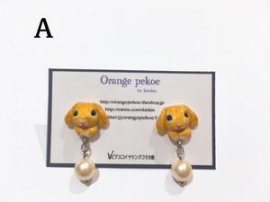 Orange pekoe by kinkin うさぁちゃんピアス