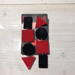 ◆赤黒ピアス◆