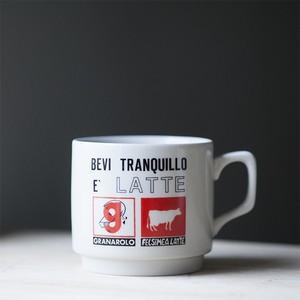 """ノベルティ マグカップ """"BEVI TRANQUILLO E' LATTE"""" (italy)"""
