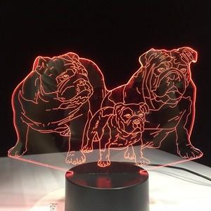3D LEDランプ【ブルドッグ】