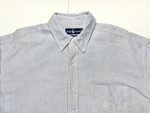 Ralph Lauren BIG SHIRT ラルフローレン  ビッグシャツ ストライプ ボタンダウンシャツ L